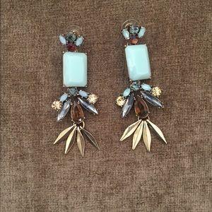 J Crew Diamond Chandelier Earrings